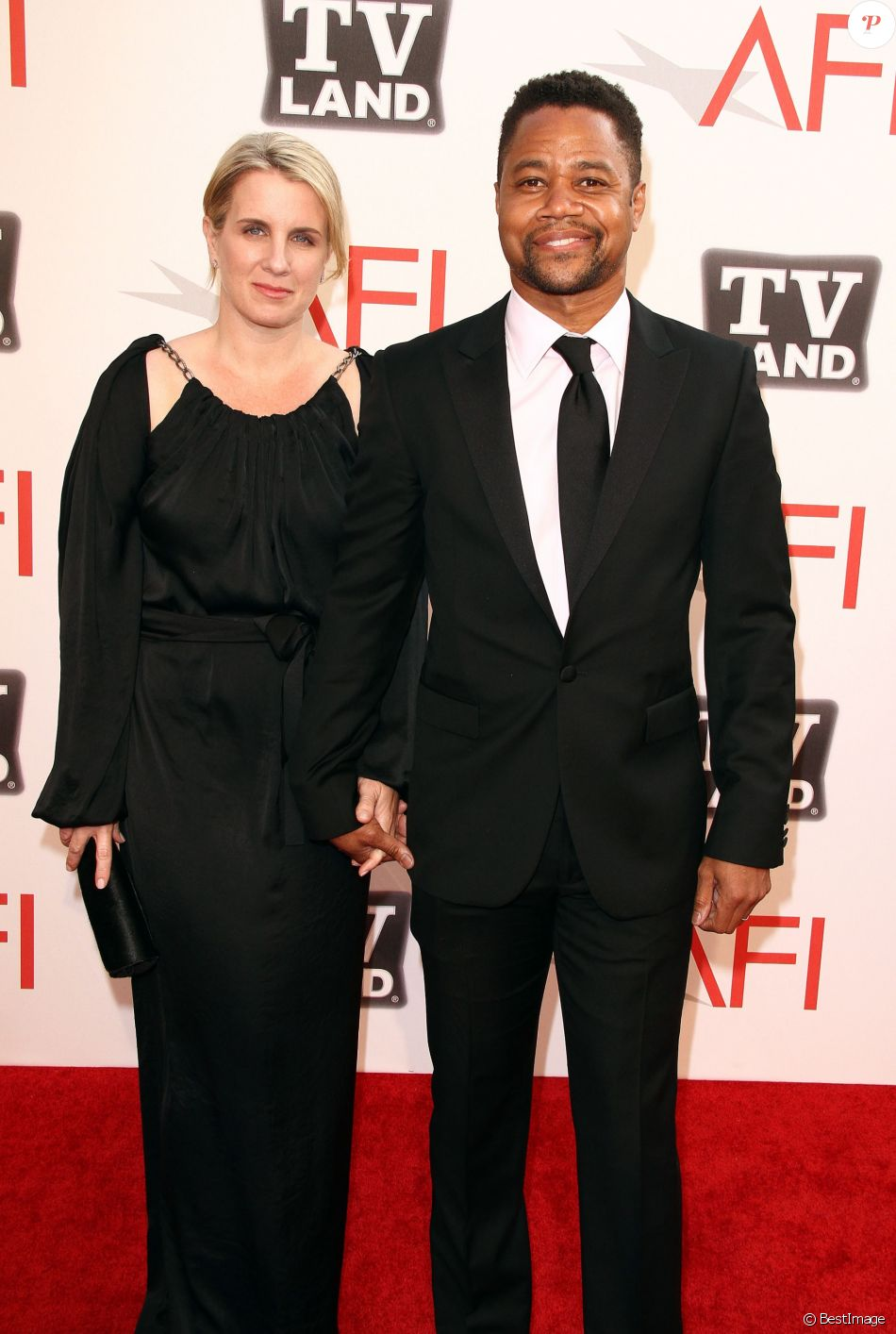 "Cuba Gooding Jr. et Sara Kapfer aux ""AFI's Annual Achievement Award"" à Culver City le 9 juin 2011"