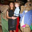 Melania Trump et son fils Barron à l'évènement Bunny Hop, à New York, le 11 mars 2008.