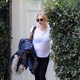 Exclusif - Amanda Seyfried enceinte à la sortie d'une maison à Beverly Hills, le 21 janvier 2017