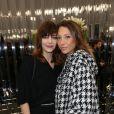 """Céline Sallette et Laura Smet- Défilé de mode """"Chanel"""", collection Haute-Couture printemps-été 2017 au Grand Palais à Paris. Le 24 janvier 2017."""