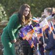 La duchesse Catherine de Cambridge visitait le 24 janvier 2017, en sa qualité de marraine d'East Anglia's Children Hospices (EACH), un hôpital pour enfants du Norfolk, à Quidenham.
