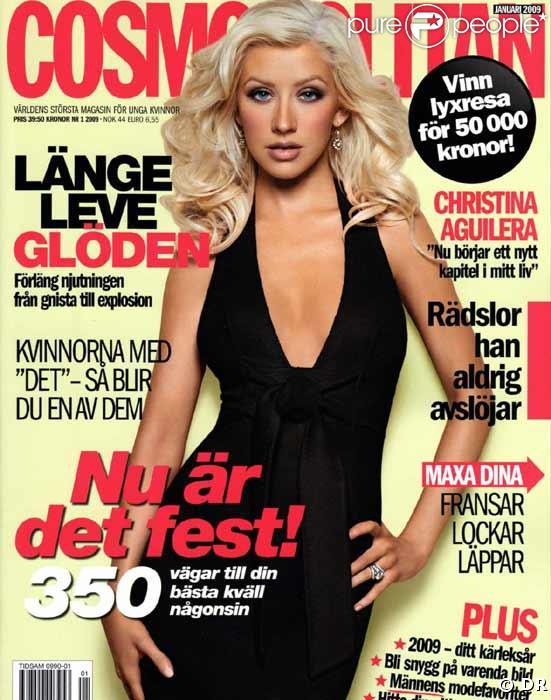 Christina Aguilera pour Cosmopolitan