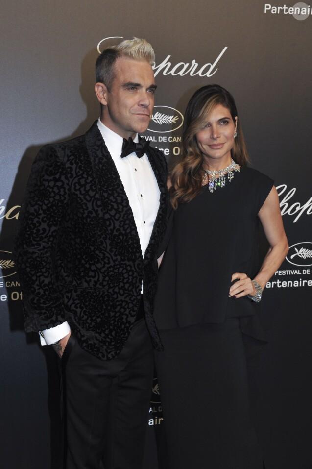Robbie Williams et sa femme Ayda Field - Soirée Chopard Gold Party à Cannes lors du 68e festival international du film. Le 18 mai 2015