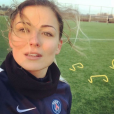 Laure Boulleau, joueuse du PSG, à l'entraînement. Photo postée sur Instagram en janvier 2017.