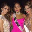 Iris Mittenaere (Miss France 2016) à Manille pour le concours Miss Univers 2016, en janvier 2017. Ici avec Miss Colombie et Miss Allemagne.