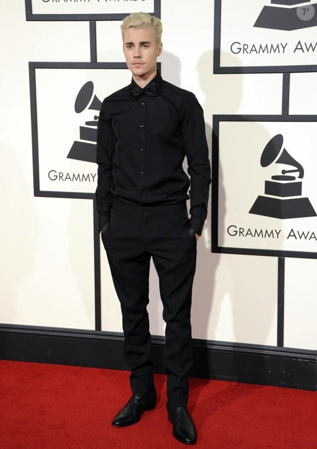 Justin Bieber - La 58ème soirée annuelle des Grammy Awards au Staples Center à Los Angeles, le 15 février 2016.