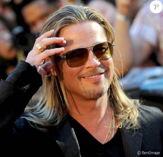 """Brad Pitt à la première du film """"World War Z"""" à New York. Le 17 juin 2013"""