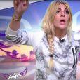 """Mélanie en salle d'interview - """"Les Anges 9"""", lundi 6 février 2017, NRJ12"""