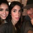 Nina Dobrev retrouve son ex Ian Somerhalder et sa femme Nikki Reed pour un dîner à Atlanta. Photo publiée sur Instagram le 8 février 2017