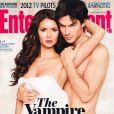 Nina Dobrev et Ian Somerhalder en couverture du magazine Entertainment - Février 2012