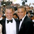 Matt Damon et George Clooney à Cannes en 2007.