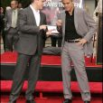 Matt Damon et George Clooney à Hollywood en juin 2007.
