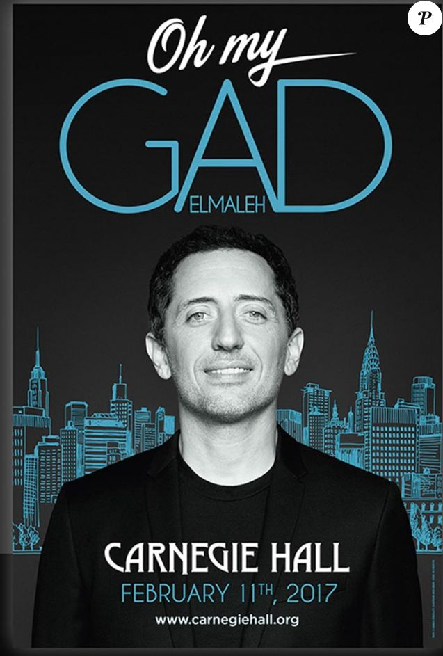 Affiche du spectacle Oh my Gad au Carnegie Hall à New-York 11 fécvrier 2017.
