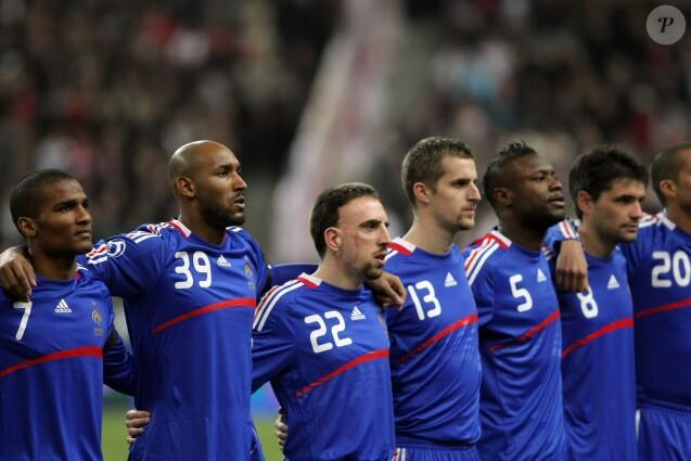 Nicolas Anelka membre de l'équipe de France, lors du match France-Angleterre au Stade de France, le 26 mars 2008.