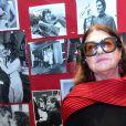 Rétro - Décès de la styliste Emmanuelle Khanh - Exclusif - Emmanuelle Khanh - Hommage à Omar Sharif au cinéma Mac Mahon à Paris. Le 13 septembre 2015