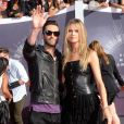 Adam Levine et sa femme Behati Prinsloo - Cérémonie des MTV Video Music Awards à Inglewood. Le 24 août 2014.