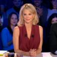 """Yann Moix et Vanessa Burggraf dans """"On n'est pas couché"""", le 18 février 2017 sur France 2."""