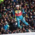 Martin Fourcade a été sacré champion du monde de poursuite aux Mondiaux de biathlon à Hochfilzen, Autriche, le 12 février 2017.