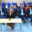 L'infante Cristina d'Espagne entendue lors du procès de l'affaire Noos à Palma de Majorque, le 3 mars 2016.