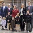 La famille royale d'Espagne à Palma de Majorque lors des vacances de Pâques 2008