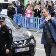 Iñaki Urdangarin arrive au tribunal de Palma de Majorque le 23 février 2017 pour connaître la décision concernant sa liberté provisoire suite à sa condamnation à six ans et trois mois de prison dans l'affaire Noos.