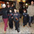 Cristina d'Espagne, son époux Inaki et leurs enfants à la soirée rois mages