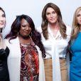 """Ella Giselle, Chandi Moore, Caitlyn Jenner (Bruce Jenner) et Candis Cayne à la Conférence de presse pour la série """"I Am Cait"""" à Beverly Hills. Le 15 mars 2016"""