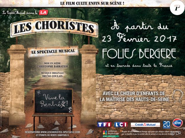 Affiche de la comédie musicale Les Choristes.