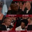 Mahershala Ali reçoit l'Oscar du meilleur second rôle pour Moonlight des mains d'Alicia Vikander - 26 février 2017
