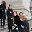 Francesca Versace, Cristiana Versace - Arrivée des personnalités à la cérémonie religieuse en l'honneur de Franca Sozzani (rédactrice en chef de Vogue Italie décédée le 22 décembre 2016) à Milan, le 27 février 2017