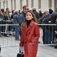 Miroslava Duma - Arrivée des personnalités à la cérémonie religieuse en l'honneur de Franca Sozzani (rédactrice en chef de Vogue Italie décédée le 22 décembre 2016) à Milan, le 27 février 2017