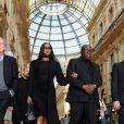 Naomi Campbell - Cérémonie religieuse en l'honneur de Franca Sozzani (rédactrice en chef de Vogue Italie décédée le 22 décembre 2016) à Milan, le 27 février 2017