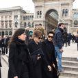Guest, Carla Bruni-Sarkozy, Farida Khelfa - Cérémonie religieuse en l'honneur de Franca Sozzani (rédactrice en chef de Vogue Italie décédée le 22 décembre 2016) à Milan, le 27 février 2017