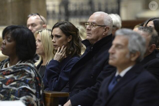 Victoria Beckham - Intérieur - Cérémonie religieuse en l'honneur de Franca Sozzani (rédactrice en chef de Vogue Italie décédée le 22 décembre 2016) à Milan, le 27 février 2017.