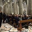 Illustration - Intérieur - Cérémonie religieuse en l'honneur de Franca Sozzani (rédactrice en chef de Vogue Italie décédée le 22 décembre 2016) à Milan, le 27 février 2017.