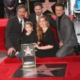 Denis Villeneuve, Amy Adams, son mari Darren Le Gallo et leur fille Aviana Olea Le Gallo, Jeremy Renner - Amy Adams reçoit son étoile sur le Walk of Fame à Hollywood. Le 11 janvier 2017 © F. Sadou / Zuma Press / Bestimage