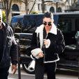 Kendall Jenner arrive à L'Avenue à Paris, le 2 mars 2017.