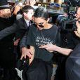 Kendall Jenner rentre au George V à Paris le 2 mars 2017.
