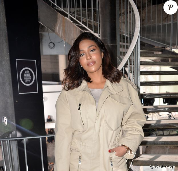 """Majda Sakho - Défilé de mode prêt-à-porter automne-hiver 2017/2018 """"Rick Owens"""" au Palais de Tokyo. Paris, le 2 mars 2017. © CVS/Veeren/Bestimage"""