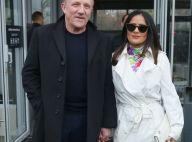 Fashion Week : Salma Hayek, angélique dans la grisaille parisienne
