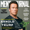 "Arnold Schwarzenegger en couverture du magazine ""Men's Journal"" (avril 2017)."