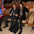 """Nicolas Sarkozy et sa femme Carla Bruni-Sarkozy - Présentation du nouveau livre de Marisa Bruni Tedeschi """"Mes chères filles, je vais vous raconter"""" à Turin en Italie le 6 mars 2017."""