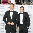 Hugh Laurie et son ami (qu'il fait bien souffrir dans Dr. House) Sean Robert Leonard