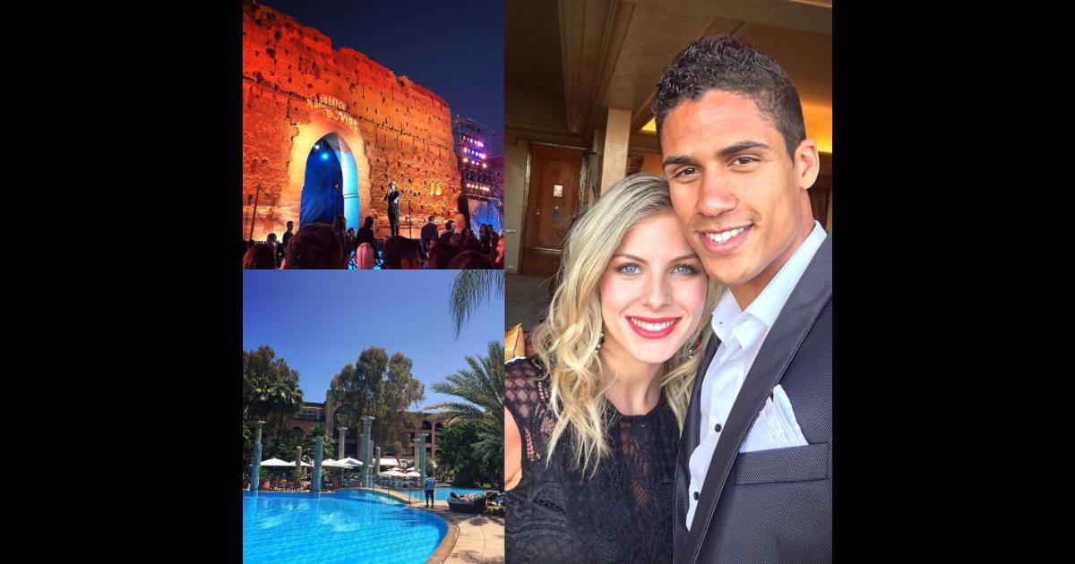 Rapha l varane et sa femme camille tytgat ici au marrakech du rire 2016 attendent leur - Raphael de casabianca et sa femme ...