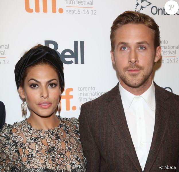 Ryan Gosling et Eva Mendes à Toronto,le 7 septembre 2012.