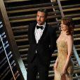 Ryan Gosling et Emma Stone lors des Oscars au Dolby Theatre, Los Angeles, le 26 février 2017.
