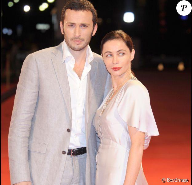 Emmanuelle Béart et Michaël Cohen à Venise en 2008.