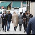 Alexandre Brasseur - Claude Brasseur reçoit les insignes d'Officier de la Légion d'Honneur des mains du président de la République F.Hollande lors de la cérémonie organisée dans le Salon des Ambassadeurs au Palais de l'Elysée à Paris, le 13 mars 2017. © Alain Guizard/Bestimage