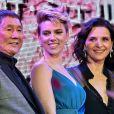 Takeshi Kitano, Scarlett Johansson et Juliette Binochelors de la première du film Ghost in the Shell à Tokyo le 16 mars 2017.