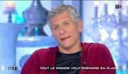 """Nagui ému aux larmes dans """"Salut les Terriens"""" (C8) le 18 mars 2017."""
